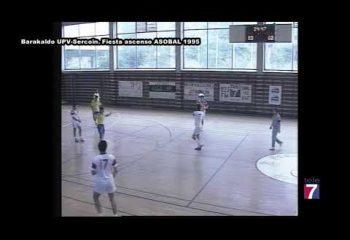 Retransmisión Tele7. Barakaldo UPV - Sercoin. Celebración ascenso Liga ASOBAL (1995)